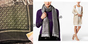 Womenand039s Scarf And Wrap Mk Signature Border Scarf