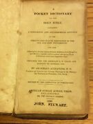 1830 A Pocket Dictionary Of The Holy Bible By Archibald Alexander.rare. Leather