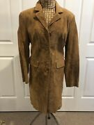 George Gross Suede Coat Size Au10 Us 6 Never Worn
