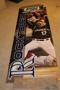Colorado Rockies Game Use Todd Helton Banner From Coors Field Rare