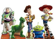 Complete Set Of Official Toy Story Cardboard Cutouts - Collection Of 5