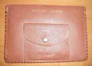 Ww2 Ration Books 3 With 2 Stamps Each In Leather Pouch With 6 Opa Tokens