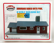 Model Power 1588 N Scale Suburban Ranch With Pool Kit New In Original Box