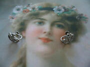 Antique Jewelry Sterling Silver Earrings With Marcasites Vintage Deco Ear Rings