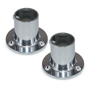 2 X Zinc Alloy Marine Boat Hand Rail Hardware 90 Degree 1and039and039 Round Stanchion Base