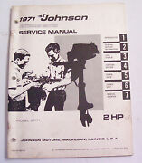 Service Manual For 2 Hp Johnson Outboard Motor 1971