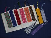 Fabric Or Cloth Bookmark, Ribbon, Variety Of Sizes And Styles Lot Of 10 Handmade