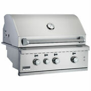 Broilmaster Bsg342n 34-in Built-in Gas Grill With 3 Burnerslights Led Controls