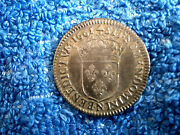 France Very Rare Grade Louis Xiiii Silver 1/12 Ecu 1661-n About Uncirculated
