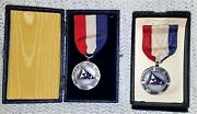 2 Sterling Silver Pleasant Park Yacht Club Medals And Ribbons - 1938 And 1939