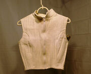 New With Tags Charles Ancona Crop Vest White M Nwt