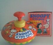 Vintage Peanuts Snoopy And The Gang Ohio Art Spinning Top Original Box Near Mint
