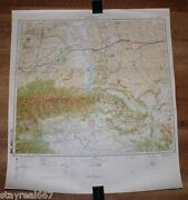 Authentic Soviet Top Secret Military Map Rock Springs Wyoming Wy Usa 11