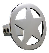 Custom Hitch Covers 12050-chrome Circle Star Hitch Cover, Large, 2