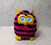 Hasbro 2013 Furby Boom Pink And Black Stripes Yellow Ears Tested And Working