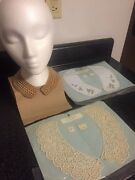 Vintage Faux Pearl Neckline Collar And 2 Polyester Collar Sewing Kits