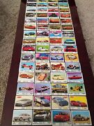 Big Collection Of Chewing Bubble Gum Wrappers With A Picture Of A Car /124 Items