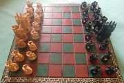 Wooden Folding Chess Board And Pieces Kadam Wood Jali Work Hand Crafted Game
