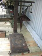 Antique Fairbanks 1100 Platform Scale With Weights Made In Usa Pat Date 1862