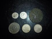 Rare Lot Of 6 Ottoman Empire Coins With Silver Coins 1704-1911 Years