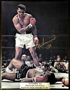 Muhammad Ali Rare Large 9 Gold Leaf Auto 16'x20 Authentication C.o.a By Paas