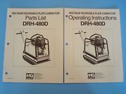 Mq Reversible Plate Compactor Drh-480d Operating And Parts Manuals 1993
