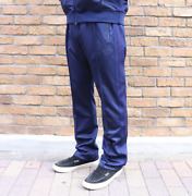 Needles Narrow Track Pant Poly Smooth Navy Charcoal Tokyo Nepenthes 18aw