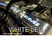 Polished Fuel Rail Covers W/ White Led Inlay For 2015-2020 Srt 6.4l 392 Engines