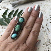 Turquoise And Sterling Silver Ring | Vintage Turquoise Jewelry | Multi Stone Rings