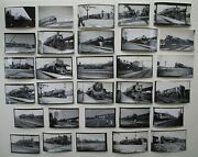 Canadian National Railway Canadian Pacific Railway Lot Of 30 Railroad Photos