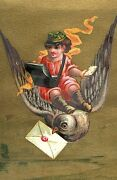 1880's Lot Of 4 Fantasy Love Letters, Birds Victorian Trade Cards P134