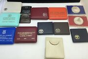 Set Of 14 Israelandrsquos Independence Silver Coin Proofs And Bu 1967andndash1979 Cases And Coa