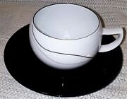 Lot Of 11 Cups And 11 Saucers Mikasa Fine China Threads Lal03