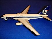 Lot Polish Airlines Herpa Boeing 767-200 1500 First Version Old Engines Rare