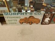 Vintage Large Metal Murphyand039s Co. Department Store Advertising Sign Toys Pedal Ca