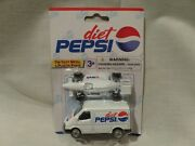 Diet Pepsi Van And Race Car By Golden Wheel-diecast 164 Scale 1999--discontinued