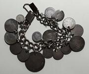 Silver 16 Coin Charm Bracelet Scarce Coins See List In Details
