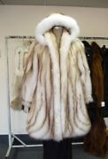 Brand New Raccoon And Fox Fur Jacket Coat Hoody Women Woman