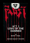 Faust Act 1 8.0 1st Print And App Auto/tim Vigil And 315/1000 W/poster S000