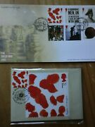 2015 Phq 401 Ww1 Centenary Set Of 6 Stamp Cards Fdi Front Plus Fdc Spl H/s