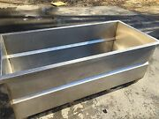 Huge Heavy Gauge Stainless Steel Vat Soak Wash Tub Tank With Outlet / Drain 7and039