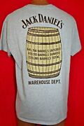 Jack Daniels Warehouse Department Staff Only T-shirt L Whisky Barrel Very Rare
