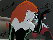 Bruce Timm Rare Harley And Ivy Limo Holiday Knights Cel Signed 2x Arlene Sorkin Wb