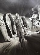 Alex Ross Rare The Mummy Universal Monsters Framed Canvas Giclee Signed 39/50