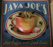 Cup Of Joe Java Joeand039s Hot Coffee And Good Eats Cafe Wall Art Cafe Decoration