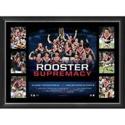 Sydney Roosters 2018 Nrl Premiers Framed Official Tribute Print Cronk Mitchell