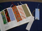 Fabric Or Cloth Bookmark, Ribbon, Variety Of Sizes And Styles Lot Of 8 Handmade
