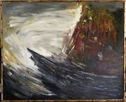 Marine Abstract Original Oil Painting Sailing Ship Boat Home Decor Impressionism