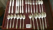 25 Pieces International Roberta R.c. Co Silver Plate Spoons,knives,forks