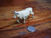 Vintage Lead Toy Cow With Horns-j Hill England